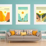 3 NATIONAL PARK MONUMENT Travel Posters (Fine Art Prints) by Jazzberry Blue