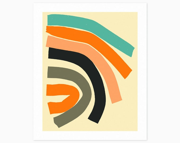 HERE AND THERE (Fine Art Print) Colorful, Minimal, Abstract Wall Art