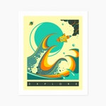 EXPLORE (Fine Art Print) Space Travel Pop Art