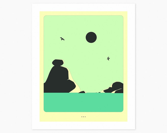 MINIMAL LANDSCAPE 21 (Fine Art Print) Seascape by Jazzberry Blue