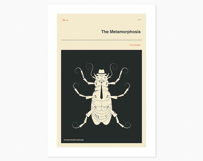 THE METAMORPHOSIS (Fine Art Print) Minimal, Book Cover Pop Art