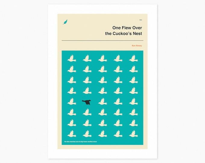 One Flew Over The Cuckoo's Nest (Fine Art Print) Minimal, Book Cover Pop Art