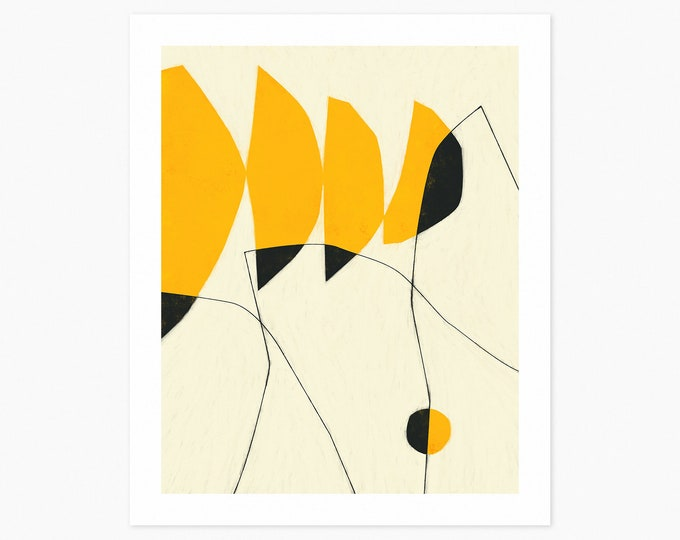 GRIDLOCK (Fine Art Print) Modern, Minimal, Yellow, Abstract Wall Art
