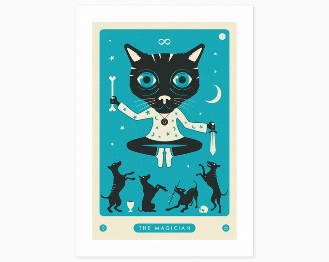TAROT CARD CAT: The Magician (Fine Art Print) by Jazzberry Blue