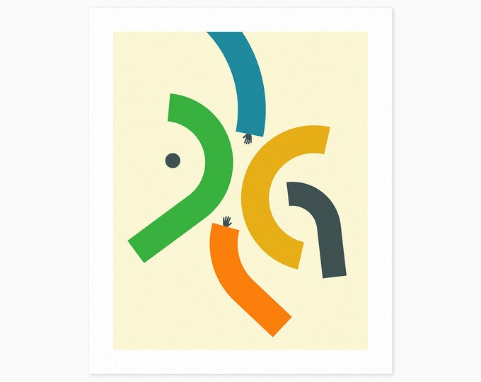 ARMS #8 (Fine Art Print) Colorful, Minimal, Abstract Wall Art