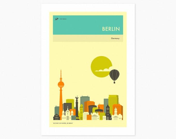 BERLIN TRAVEL POSTER (Fine Art Print) City Skyline