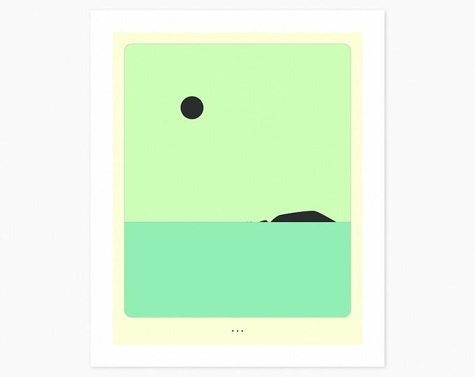 MINIMAL LANDSCAPE 25 (Fine Art Print) Seascape by Jazzberry Blue