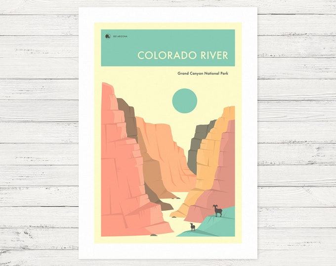 THE COLORADO RIVER (Fine Art Print) Grand Canyon National Park by Jazzberry Blue