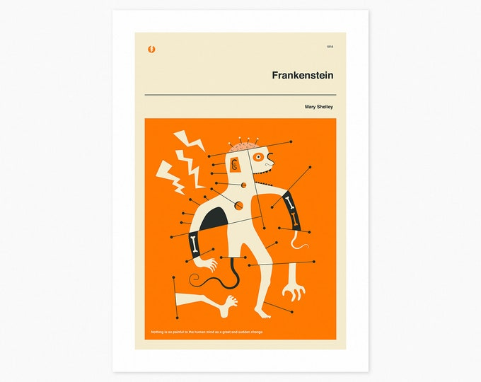 FRANKENSTEIN (Fine Art Print) Minimal, Book Cover Pop Art