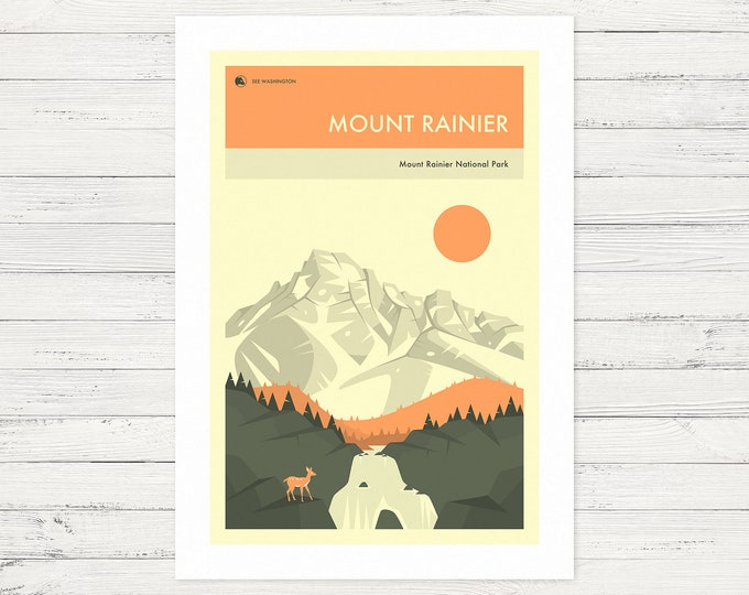 MOUNT RAINIER (Fine Art Print) by Jazzberry Blue
