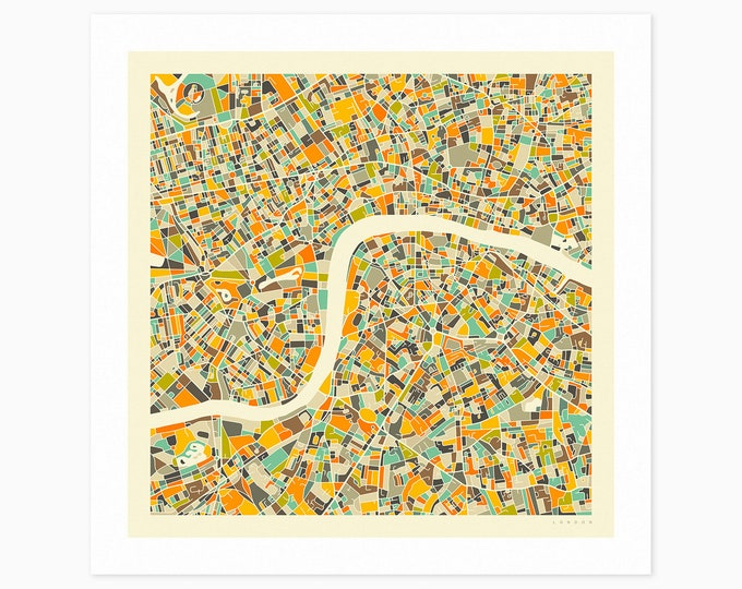 LONDON Street Map (Fine Art Print) by Jazzberry Blue