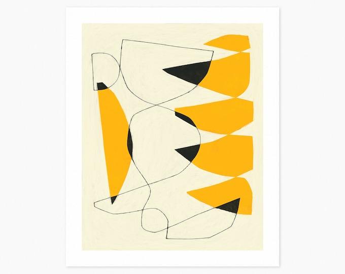 FELL SWOOP (Fine Art Print) Modern, Minimal, Yellow Abstract Wall Art