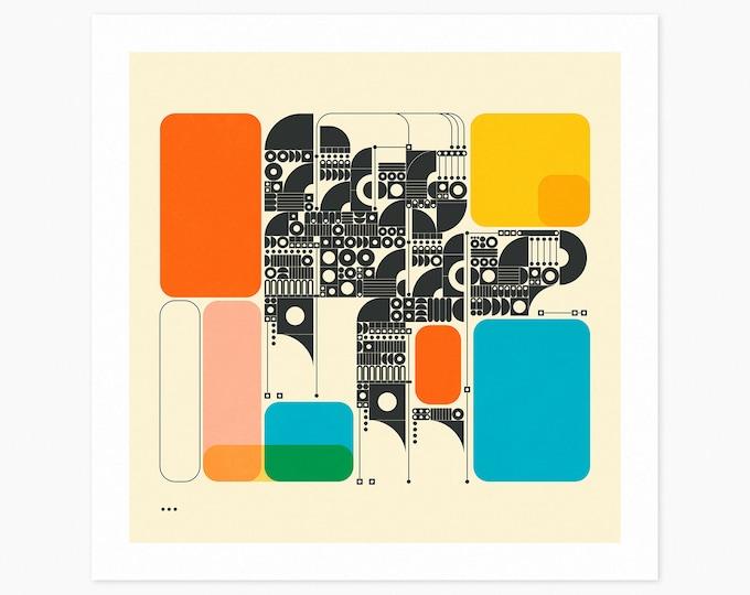 SYSTEMS 17 (Fine Art Print) Minimal Geometric Abstract Art