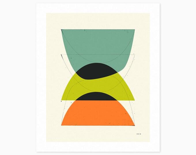 IMAGINARY 4 (Fine Art Print) Geometric Abstract Art by Jazzberry Blue