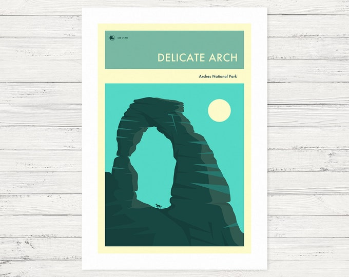 THE DELICATE ARCH (Fine Art Print) Arches National Park by Jazzberry Blue