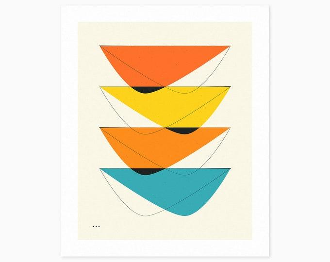 IMAGINARY 23 (Fine Art Print) Geometric Abstract Art by Jazzberry Blue