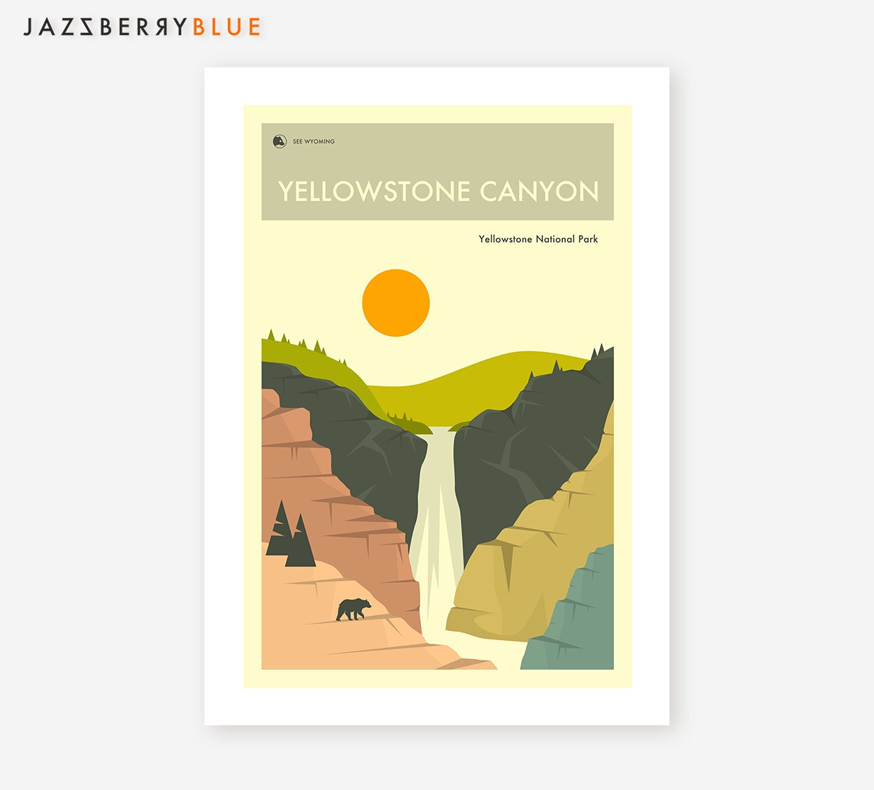 YELLOWSTONE CANYON Giclée Fine Art Print/Photo Print/Poster | Etsy