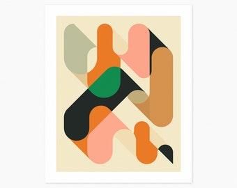 GEOMETRICS 1 (Giclée Fine Art Print or Photo Paper Print) Minimal Abstract Wall Art (Unframed)