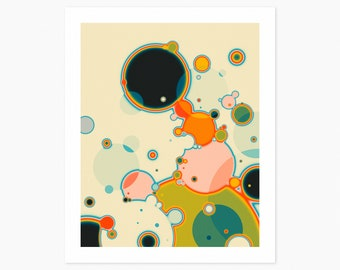 REACTION 4 (Giclée Fine Art Print or Photo Paper Print) Psychedelic Abstract Artwork by Jazzberry Blue (Unframed)