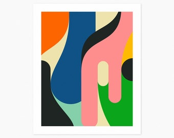 EQUATION (Giclée Fine Art Print or Photo Paper Print) Colorful, Minimal, Abstract Art by Jazzberry Blue (Unframed)