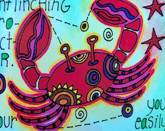 Cancer. Zodiac Magnet -by- Carrie Disrud