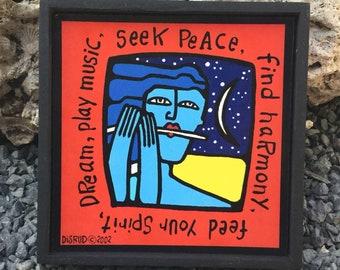 Seek Peace Plaque