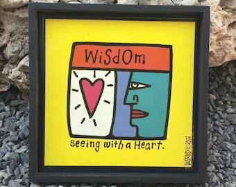 Wisdom. Plaque