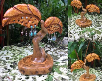 Hand Carved Earring Tree