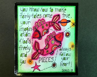 Pieces. Zodiac Magnet -by- Carrie Disrud