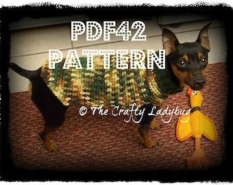 Crochet dog sweater pattern - size XS only - PDF42 digital download