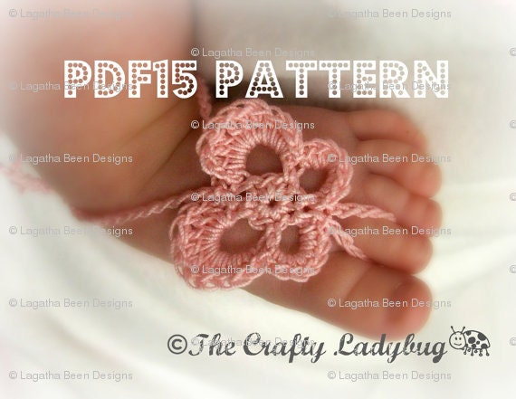 Butterfly Barefoot Baby Sandals Crochet Pattern For Newborn Etsy