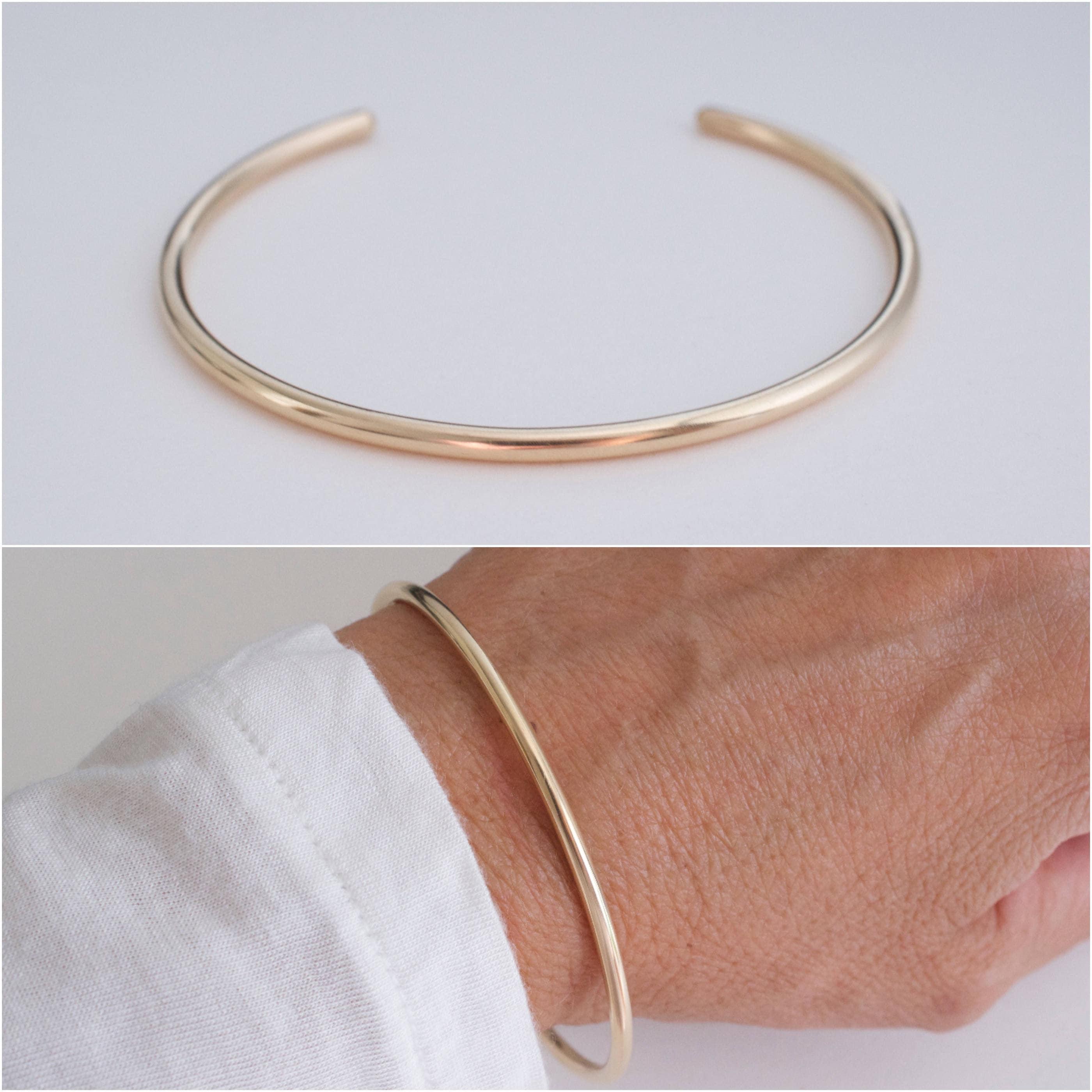 52391aa8c392 14K goldfilled cuff bracelet classic gold cuff wire