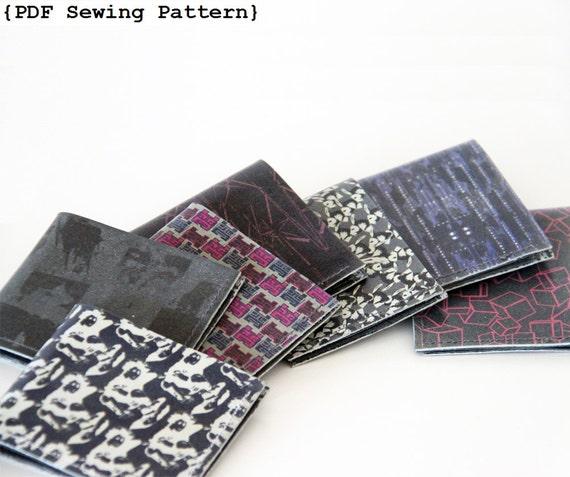 Men Wallet Sewing Pattern Leather Wallet Pattern DIY | Etsy