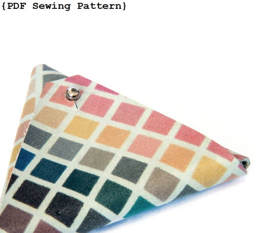 Triangle Pouch Sewing Pattern Coin Purse Sewing Pattern Etsy