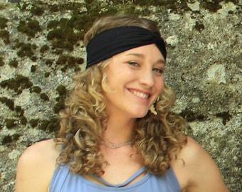 Yoga Headband-womens headbands-yoga accessories-womens fashion-workout  headband-stylish headbands-festival gear-yoga gear-headwrap-black 8ddbd1b9e2c