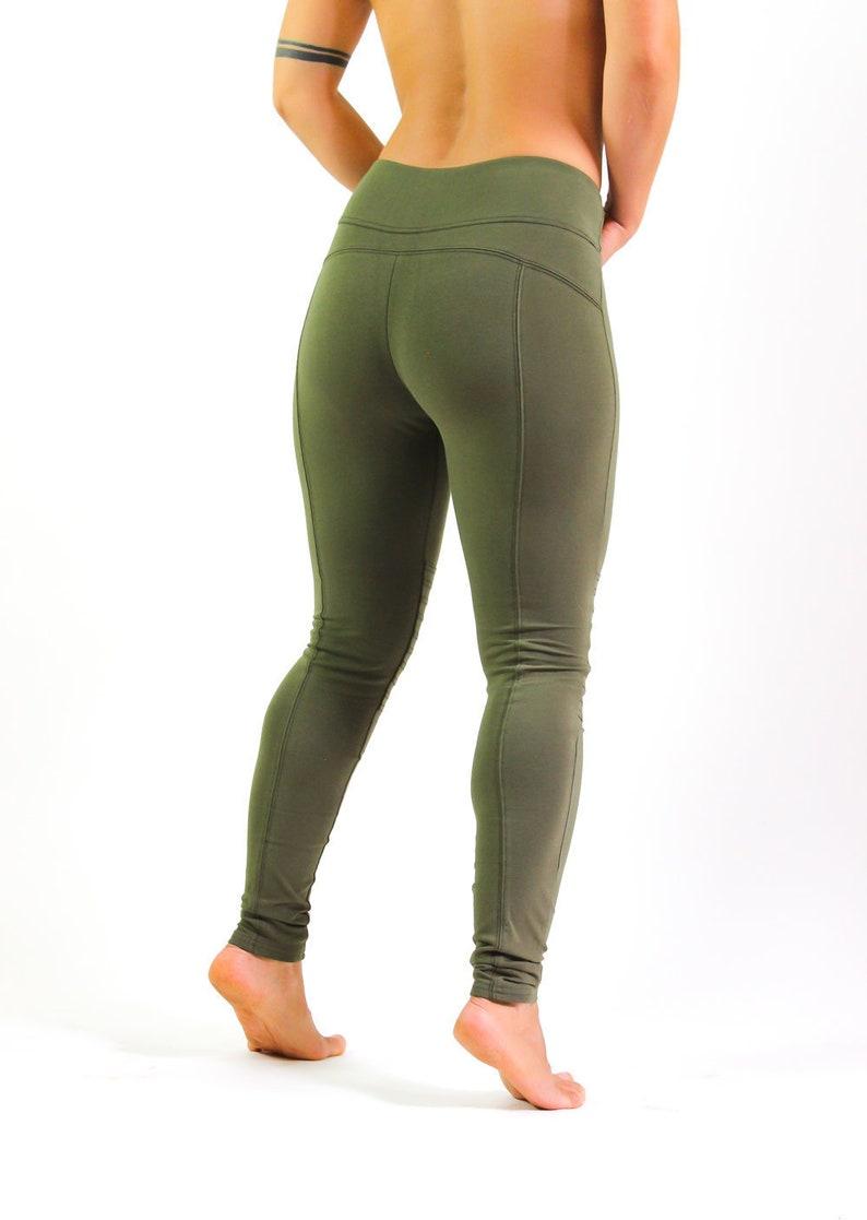 025b2cff7f021 Aurora Yoga Pants / Victory Leggings / Sage Green Leggings / | Etsy
