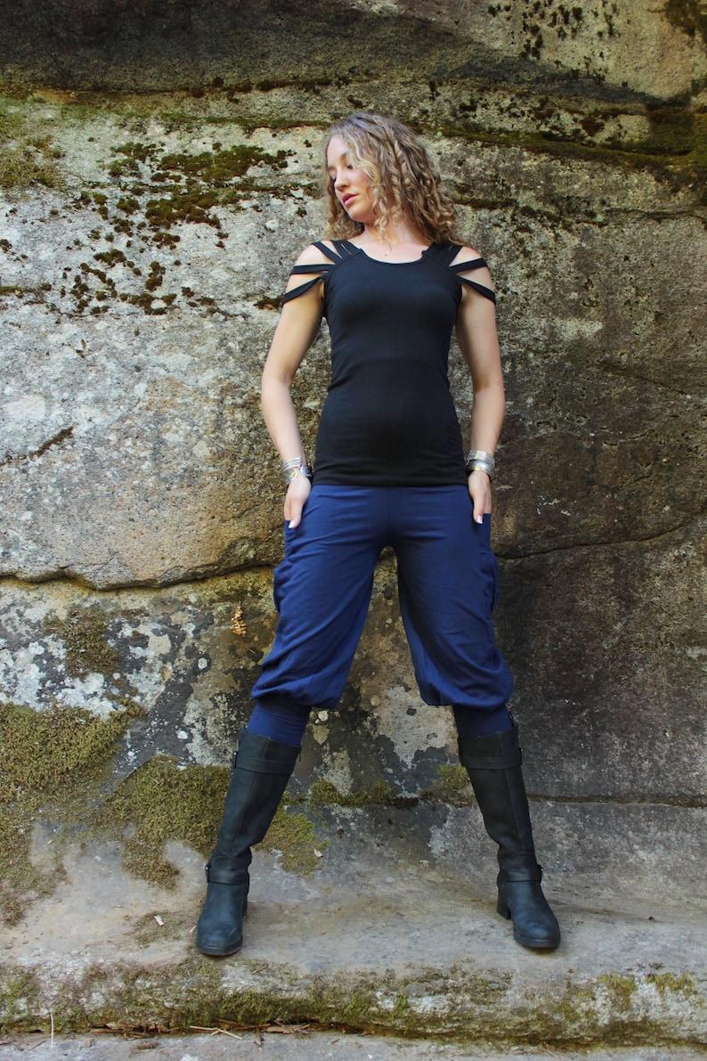 Pedal Pusher Pants-Womens Pants-ladies pants-Women Fashion-Cargo pants-Yoga Pants-Yoga clothes-Edgy Clothing-Athletic Apparel-Bohemian Pant
