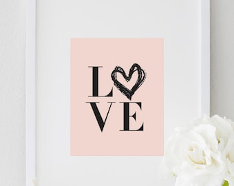 Inspirational Love Print Typography Fashion Poster Home Wall Art Office Decor