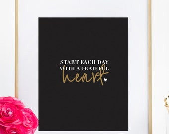 Heart Quote Print Typography Wall Art Home Decor Bedroom Poster