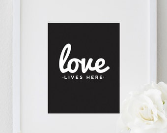 Inspiring Typography LOVE Quote Print Bedroom Poster Home Decor Wall Art