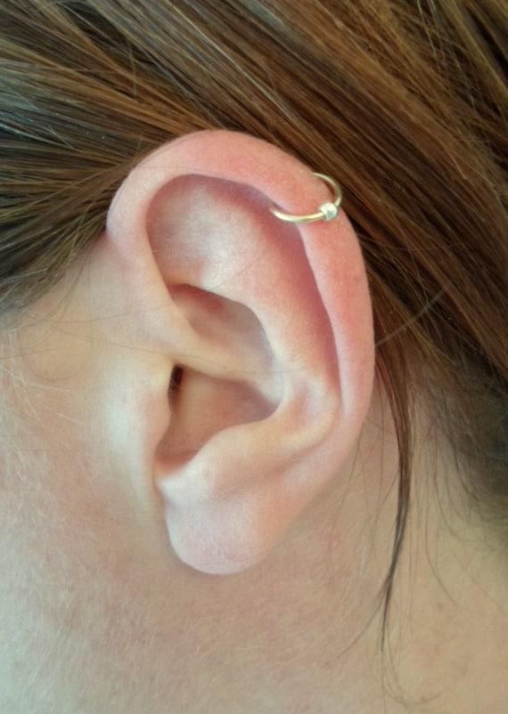 Bijoux D Oreille Cartilage ear cuff bague d'oreille simple anneau fil d'or   etsy