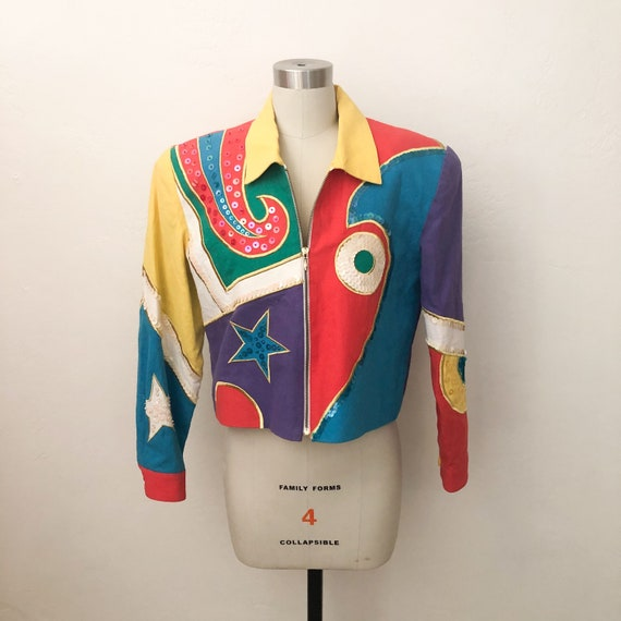 1980s BE Colorful Jacket with Sequins
