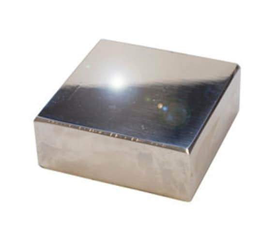 Highly Polished Solid Steel Bench Block 2 5 Inches Etsy