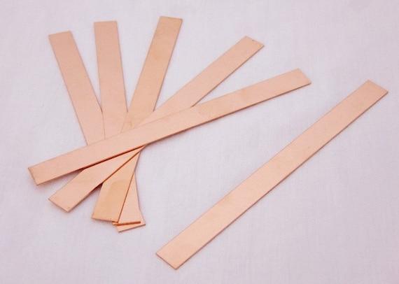 """Raw Copper Sheet Bracelet Cuff Blanks 6/"""" x 2/"""" 24ga Package Of 6"""
