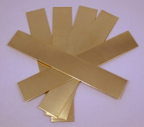 "Bracelet Cuff Blanks 6 x 0.5/"" 22ga Package Of 6 Raw Brass Sheet"