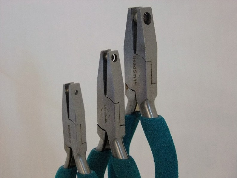 4 Piece Dimple Plier Kit With View Finder Jaws Includes Wood Block