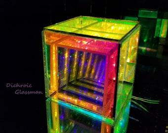 "6 sheets Dichroic Borosilicate Glass Infinity Mirror Optical 5"" x 5"" Lamination A quality"