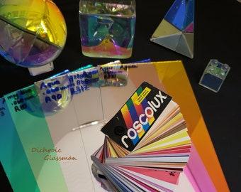 "6 sheets Dichroic Borosilicate Glass Infinity Mirror Optical 5"" x 10"" Lamination A quality"