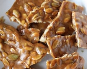 Pumpkin Seed Dry salted Brittle 1 LB Bag, Hand Made, Brittle, Wedding Favors, Birthdays, Thank you Gifts