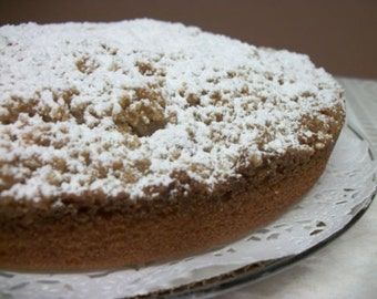 Mothers Day Gifts Italian Coffee Crumb Cake 9 inch round, Italian Cake, Crumb Cake Italian Crumb Hand Made